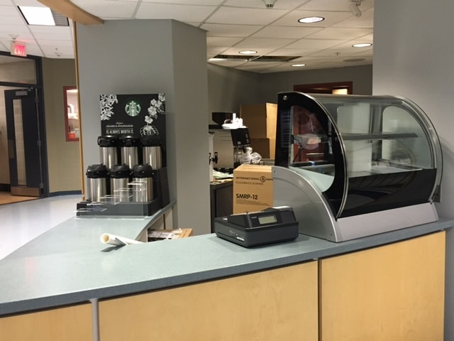 Starbucks counter at Moraine Park Fond du Lac campus
