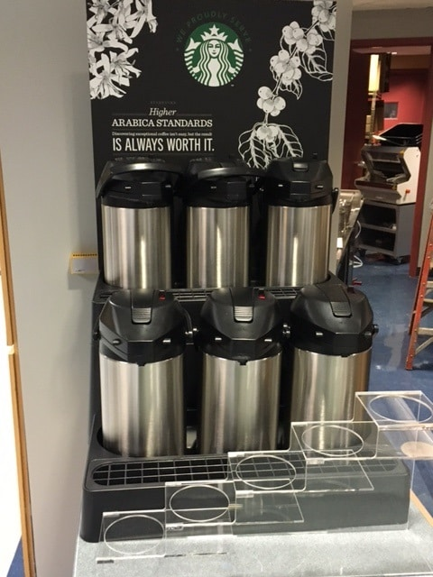 start bucks coffee canister display