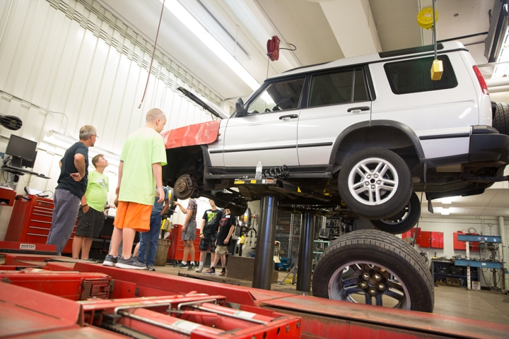 Students look at vehicle at Moraine Park TKC event