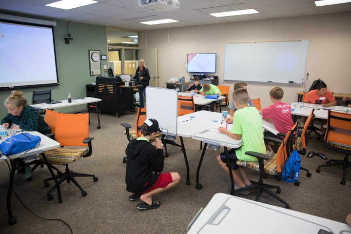 Youth work on business projects at TKC in Fond du Lac