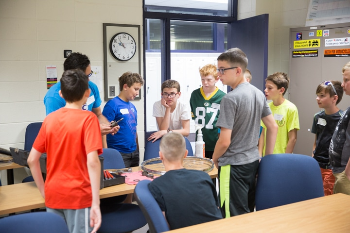 Students listen to instructor at TKC in Fond du Lac