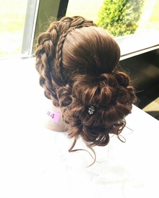 brunette hairstyle from behind view