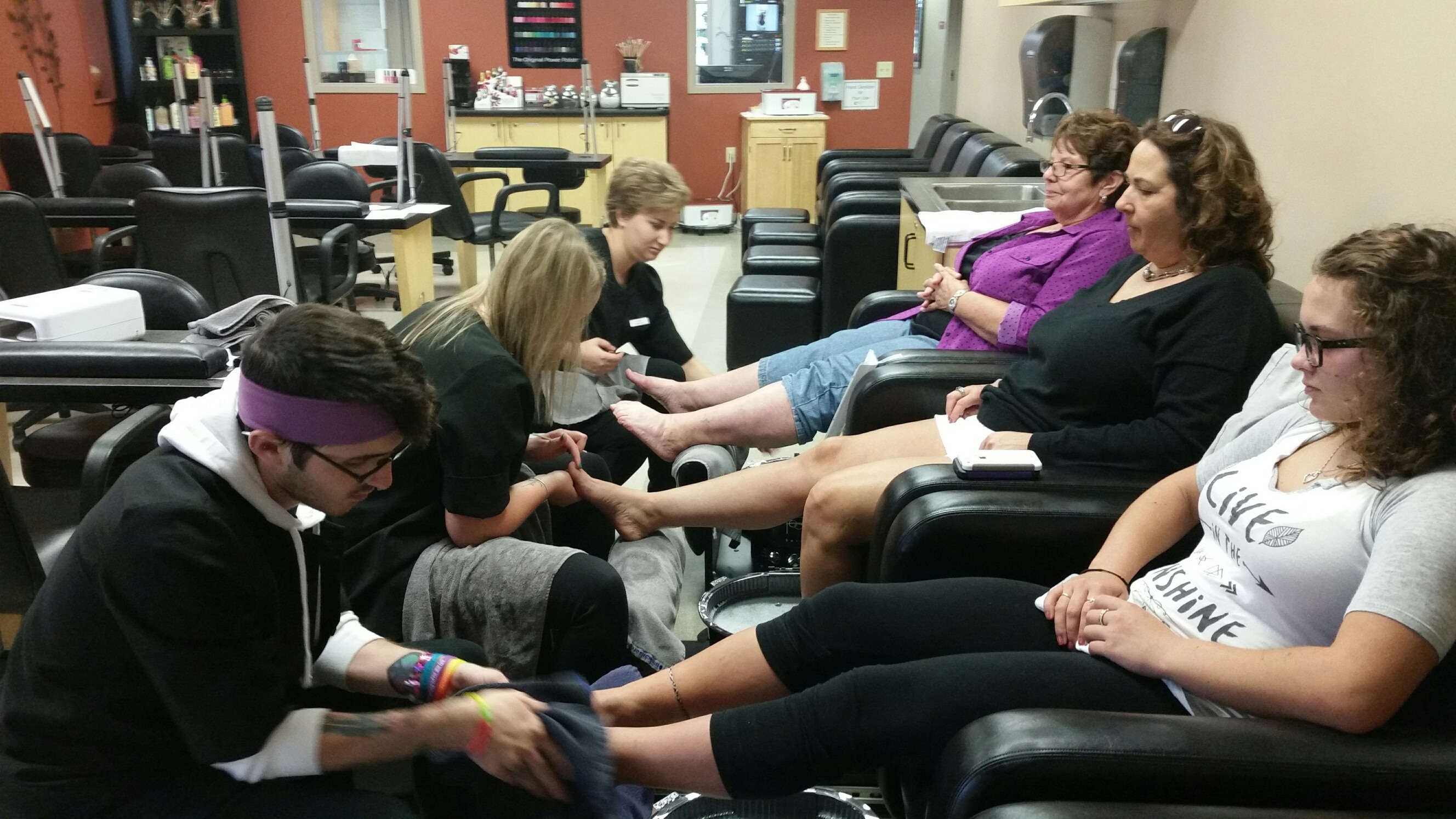Pedicures done by moraine park students