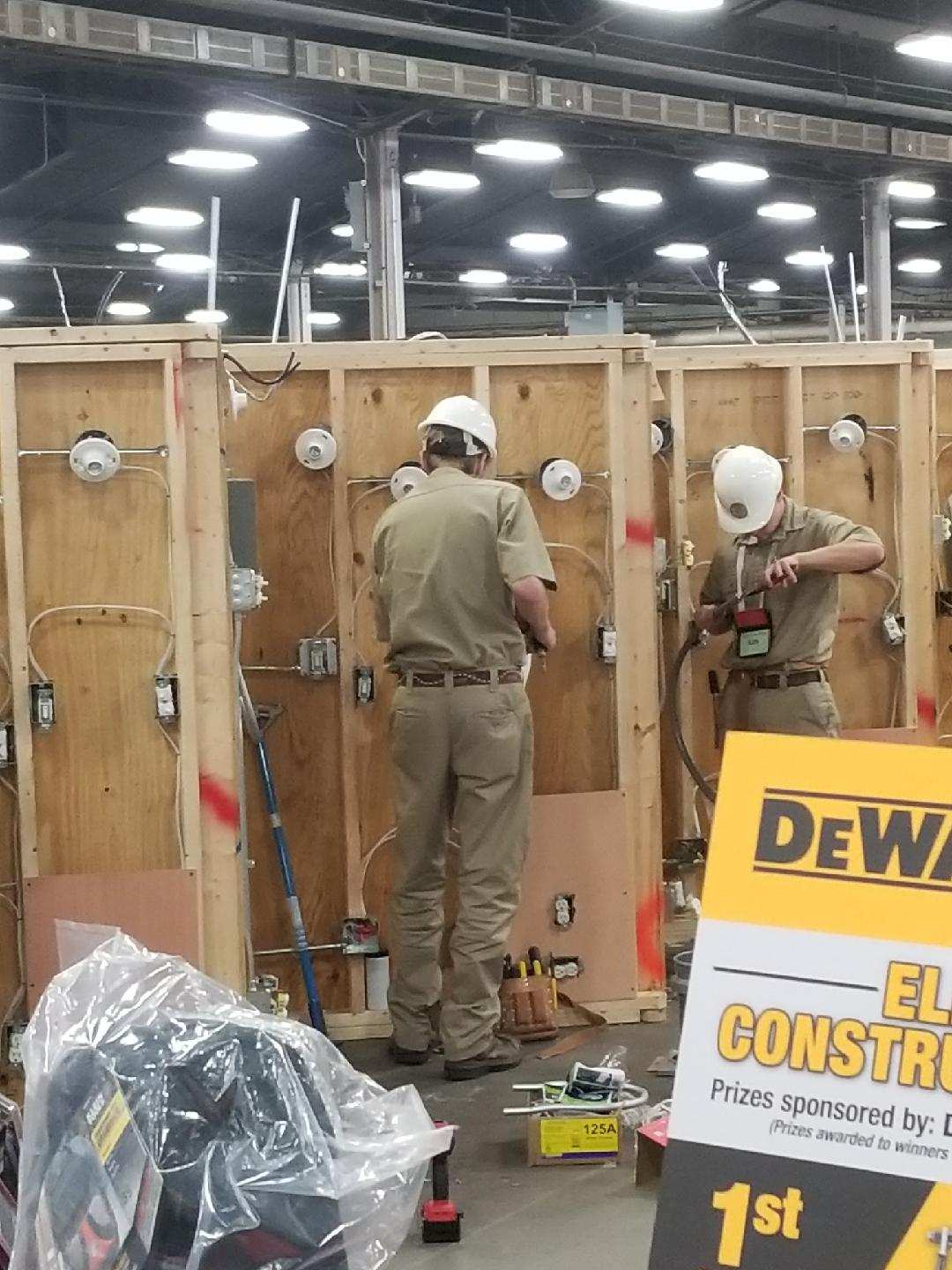 Students in competition at National Skills USA