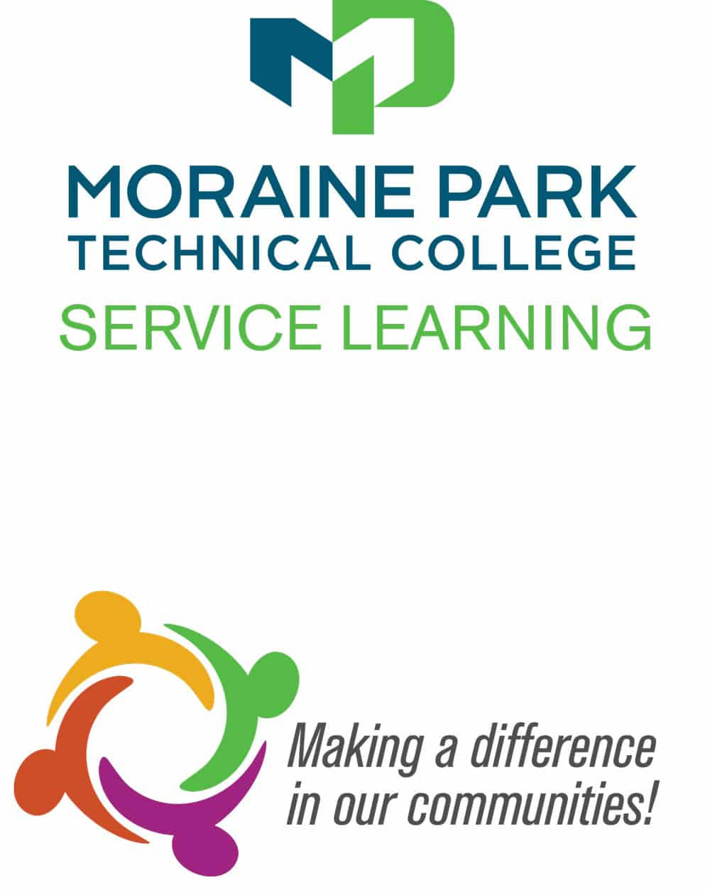 moraine park logo above making a difference in our communities logo