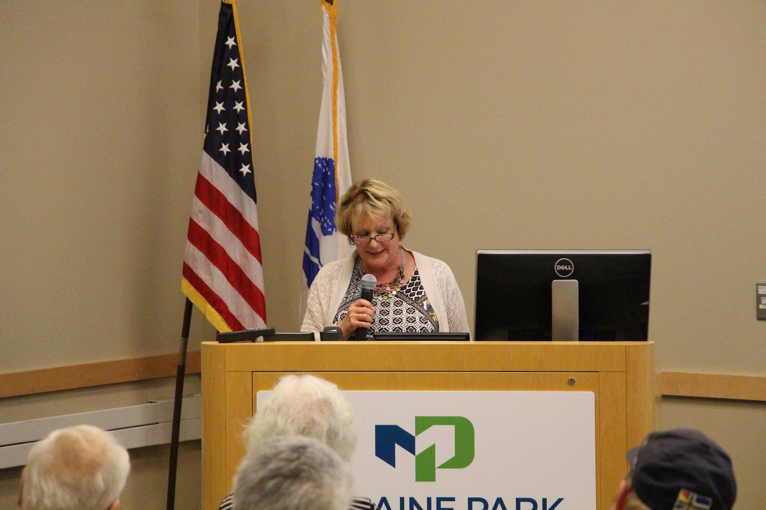 MA graduate speaker Beth Pepprock shares her success story