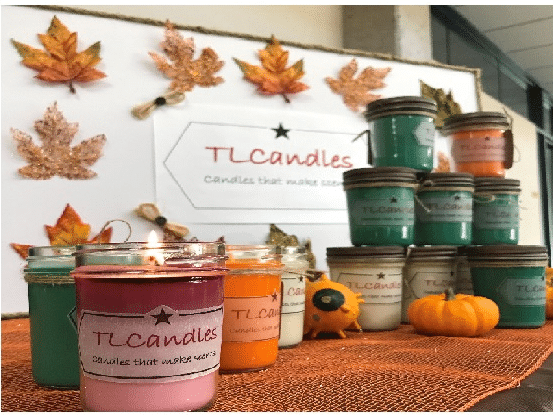 TLCandles on table