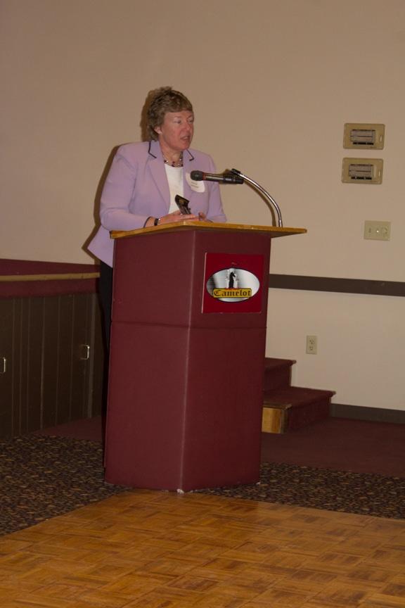 President Bonnie Baerwald accepts award