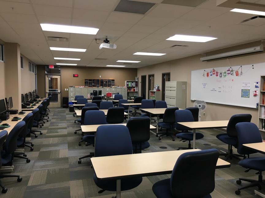 interior of student success center