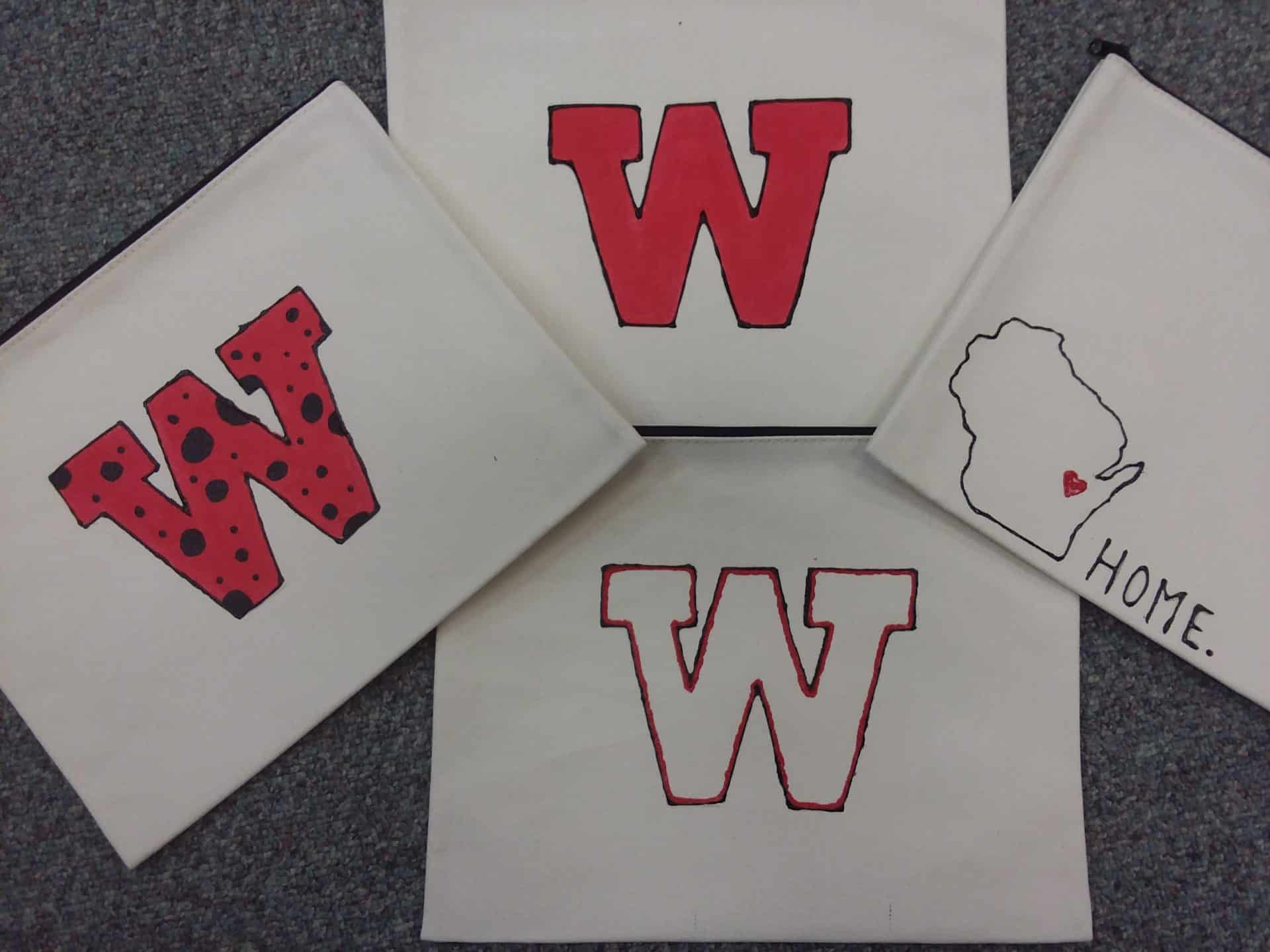 Wisconsin totes made by Moraine park students