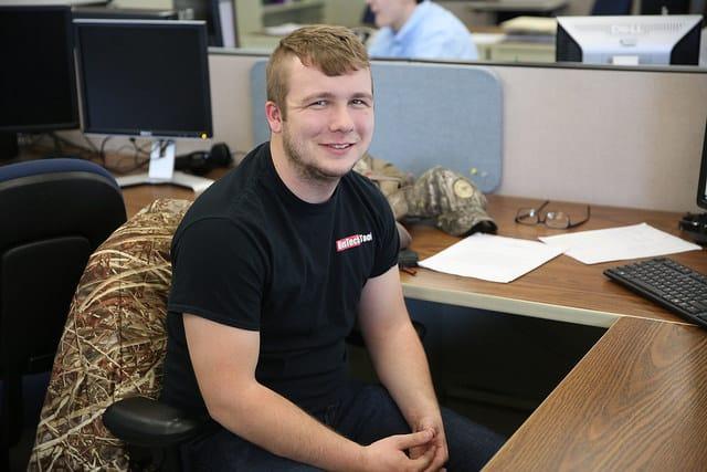Jacob Reck mechanical design student posing