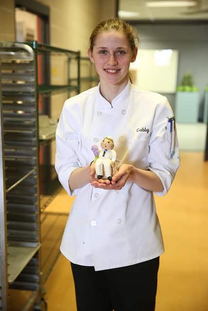 Gabby, MPTC student shows off baking skills
