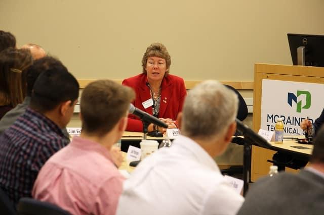 Moraine Park President Bonnie Baerwald at Legislative Breakfast