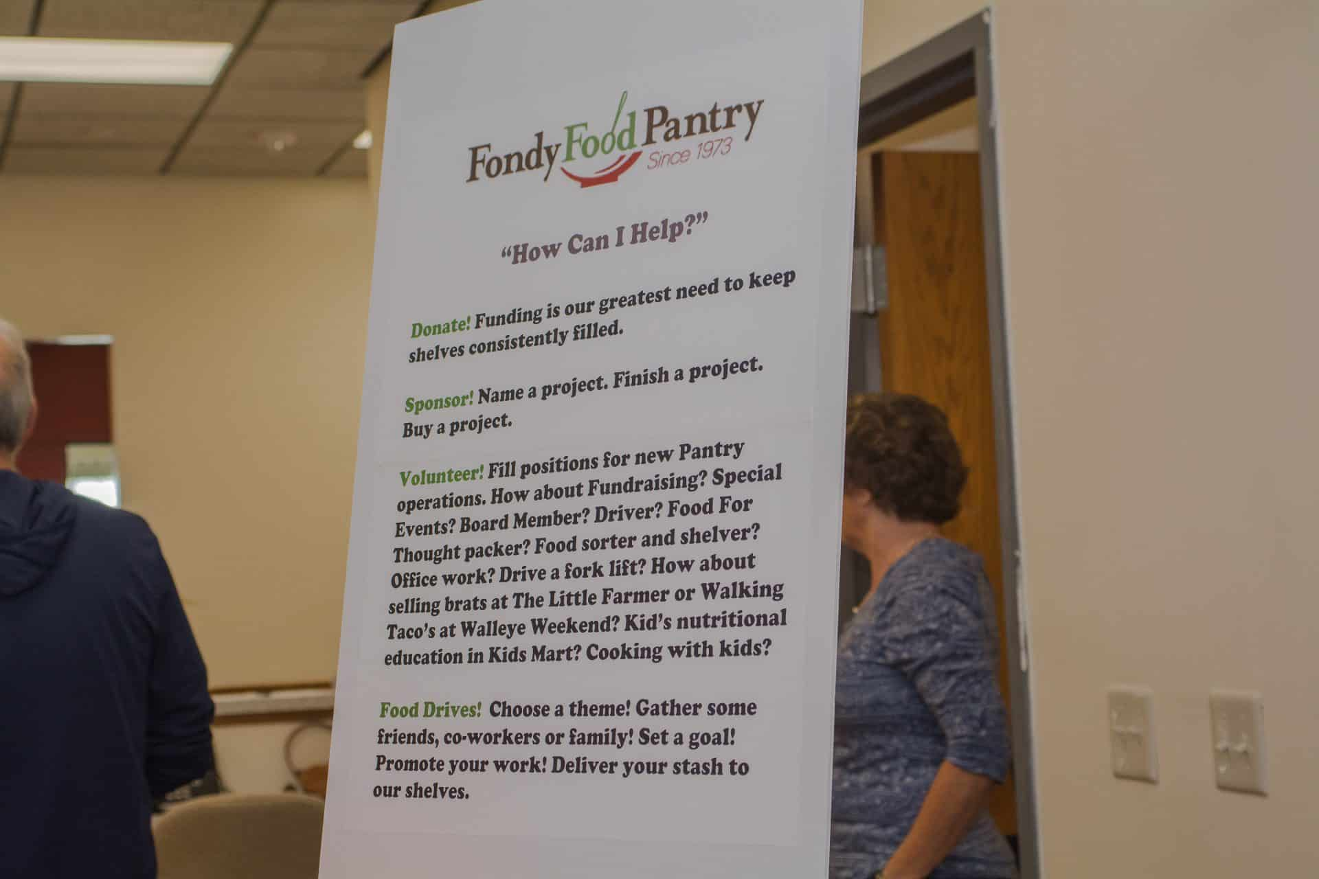 Food Pantry sign