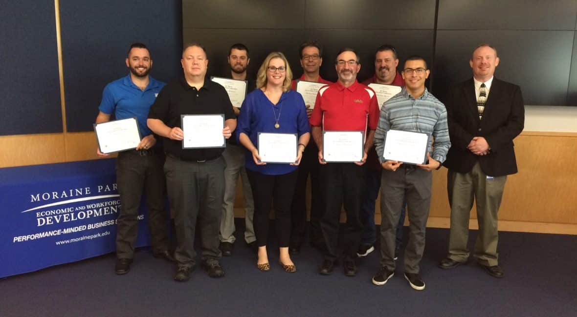 Six Sigma Green Belt graduates with instructor Doug Woolridge.