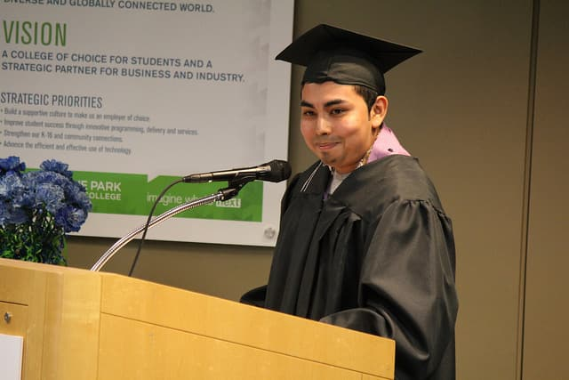 Nick Martinez Speaks to Graduating Class.