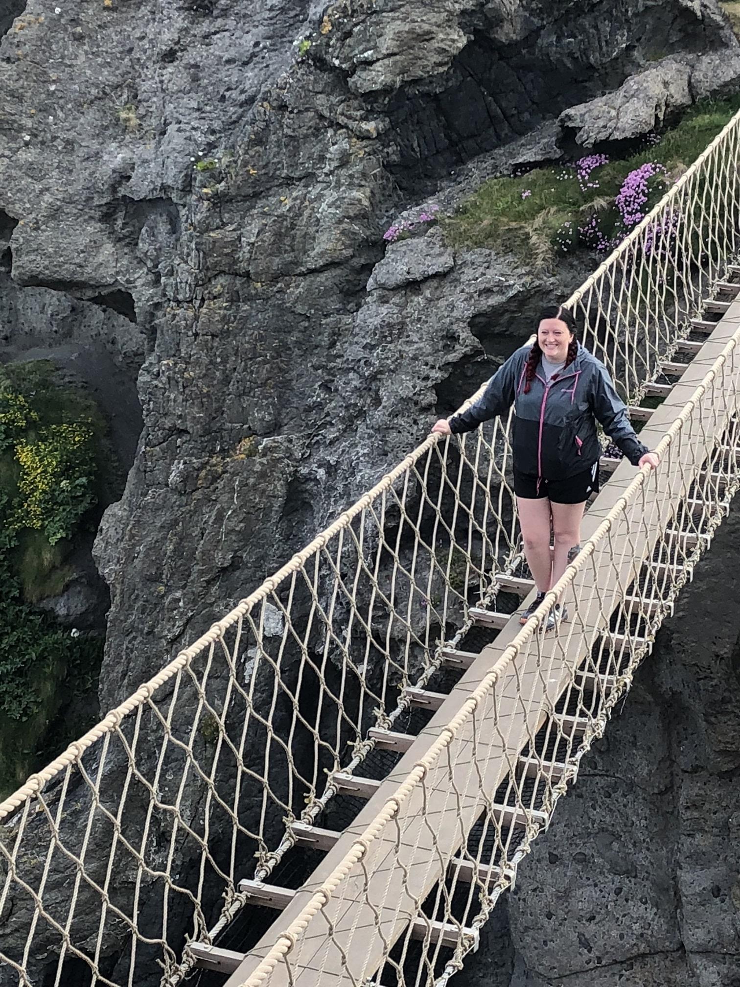 Rope Bridge in Ireland