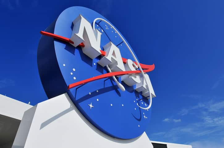 """Cape Canaveral, FL, USA- January 2, 2011: The NASA's Logo Signage at the Kennedy Space Center, NASA in Florida, USA."""