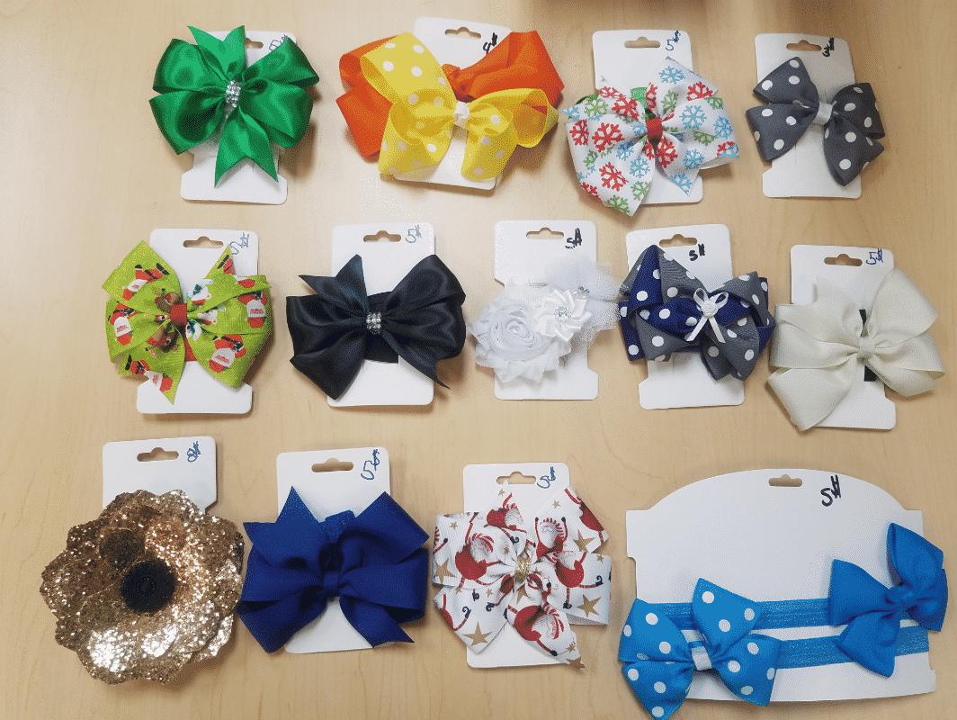 bows and hair ribbons