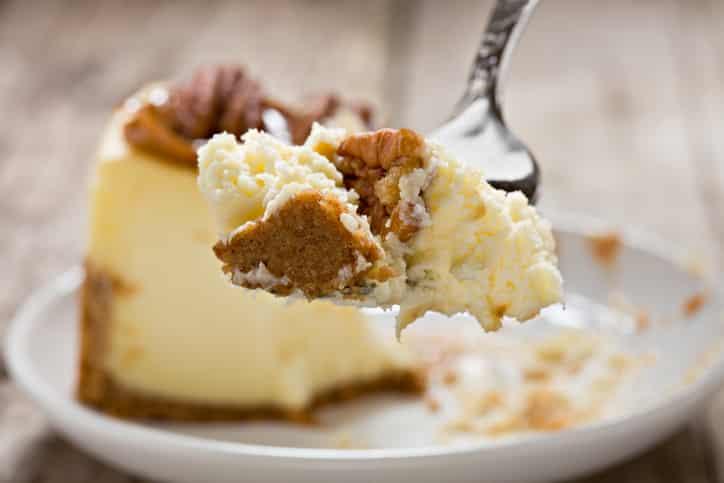 Yummy Bite Of Cheesecake
