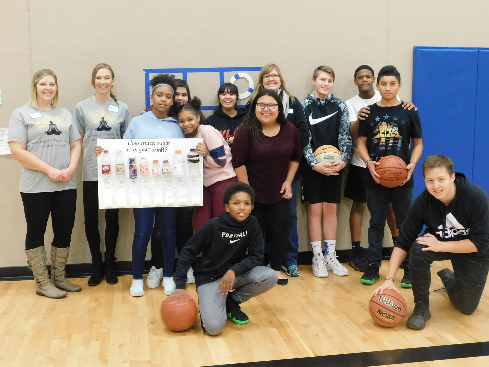 Health and Wellness students at Tri County Boys and Girls Club