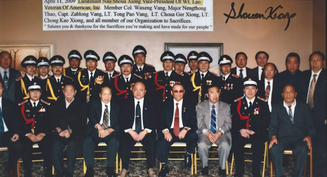 Photo of Wisconsin Hmong Veterans taken April 11, 2009. Courtesy Shoua Xiong